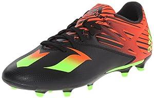 adidas Performance Men's Messi 15.3 Soccer Shoe,Black/Shock Green/Solar Red,10 M US