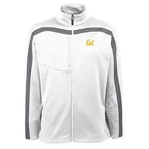 UC Berkeley Golden Bears Jacket - NCAA Antigua Mens Viper Performance Jacket White by Antigua