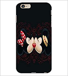 PrintDhaba Mickey and Minnie D-2396 Back Case Cover for APPLE IPHONE 6S (Multi-Coloured)