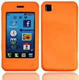 Orange LG Pop GD510 Soft Silicone Rubber Gel Skins Mobile Phone Case Cover