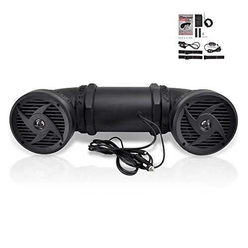 Pyle-Tornado-Bluetooth-Waterproof-ATV-Speaker-Sound-System-For-UTV-Go-Cart-All-terrain500-Watt-65-Inch-AUX-Input