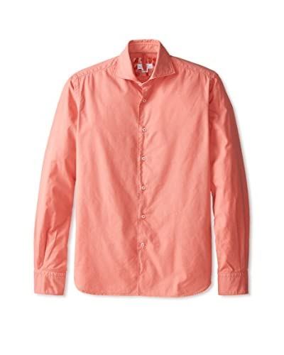 Orian Men's Slim Fit Solid Pinpoint Sportshirt