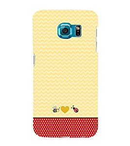 Chevron Red Dots 3D Hard Polycarbonate Designer Back Case Cover for Samsung Galaxy S6 Edge :: Samsung Galaxy Edge G925