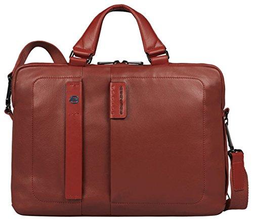 Piquadro CA1903P15/R Cartella, Linea Pulse, Rosso, 38 cm