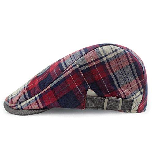 LOCOMO Checker Check Plaid Tartan Newsboy Flat Cap FFH268s04