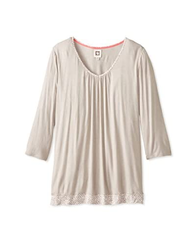 Anne Klein Women's Pajama Top  [Taupe]