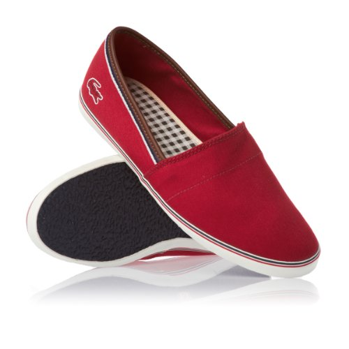 e6f4155dc5cc1 Where Can I Buy LACOSTE AIMARD RED CANVAS PLIMSOLLS AP SRM Shoes 7 ...