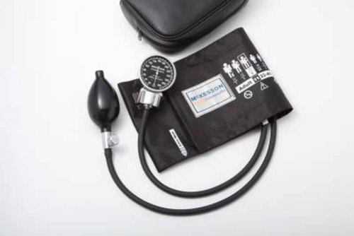 mckesson-aneroid-sphygmomanometer-color-burgundy-pocket-style-hand-held-2-tube-large-adult-arm