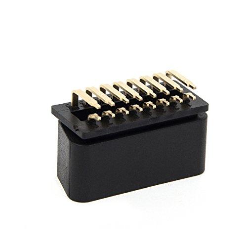 Cheap Ake OBD II Connector 16 Pin Male Core Right Angle 90 Degree