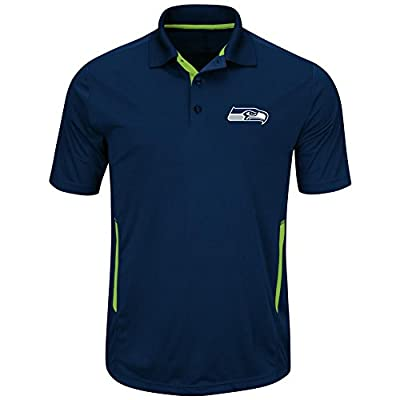 Seattle Seahawks Mens Navy Field Classic II Synthetic Polo Shirt