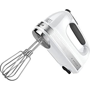 Kitchen Aid KHM926WH 9 Speed Hand Mixer - White by KitchenAid