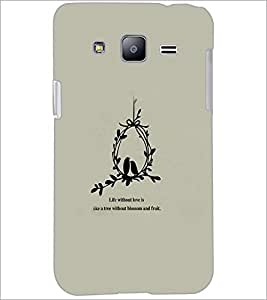 PrintDhaba Quote D-3761 Back Case Cover for SAMSUNG GALAXY J2 (Multi-Coloured)
