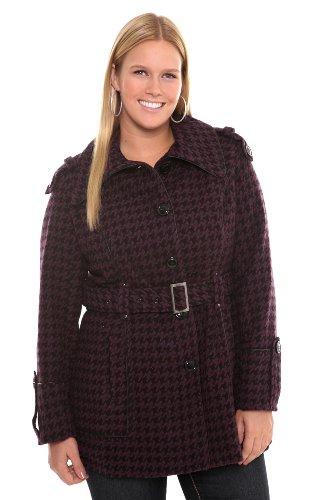 41yMt0UCyQL Torrid Plus Size Miss Sixty Purple Houndstooth Coat