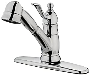 Estora 40-51222 Poetto Single Handle Pull-Out Kitchen Faucet, Chrome