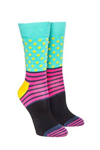 Striped Polka Dot Crew Sock