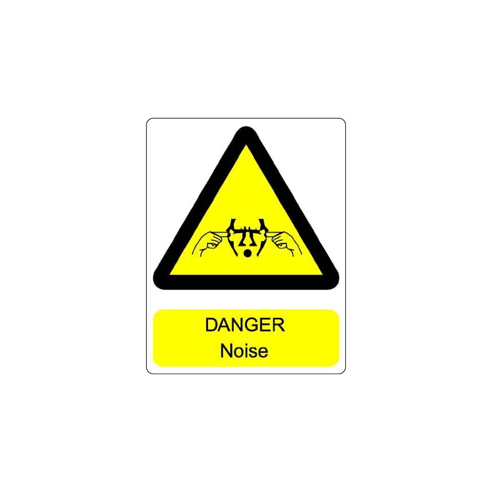 Danger Noise Hazard Plug Ears Sign Sticker Decal 4.5x3.5
