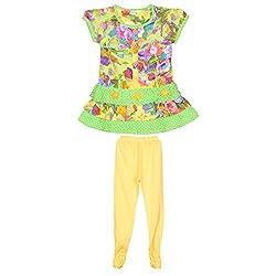 Rush Me Baby Girls' Dress (S.R.3001_2Year, 2 Years, Green)