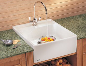 24 Apron Front Sink : Kitchen Farmhouse Apron Front Sink - White Single 24 $534.99