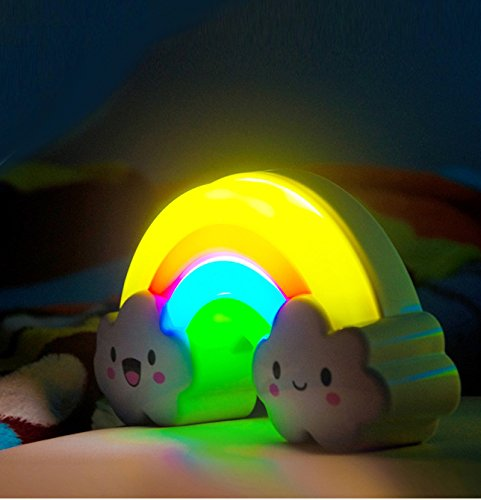 Rainbow Night Light Lamp By Little Lamby With 2