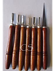 7 Pc Soap Carving Knives Set by 