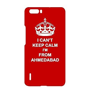 Skin4gadgets I CAN'T KEEP CALM I'm FROM AHMEDABAD - Colour - Red Phone Designer CASE for HUAWEI HONOR 6x