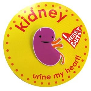 Kidney Lapel Pin Urine My Heart! I Heart Guts