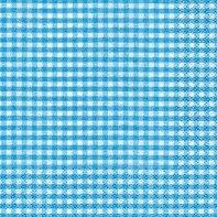 Servietten Vichy Karo Türkis, 25 x 25 cm Cocktailservietten, Tissue, Napkin, 3 lagig, 20 Stück, Papierservietten, Markenservietten, Anlass, Party, Event, Geburtstag, Weihnachten