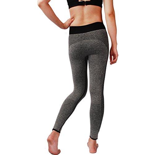 WELOVE Women's Solid Color Sports Leggings Full Length ...