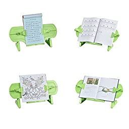 Newlemo Book Reading Stand Adjustable Book Stand for Desk Reading Book Holders and Stands (Green)
