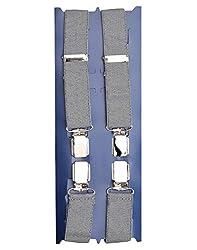 TieKart Grey Patterns Men's Belts-Suspenders