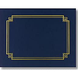Linen Navy Blue Certificate Covers - Pack of 3