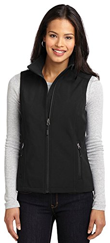 Port Authority Ladies Core Soft Shell Vest, Black, Small