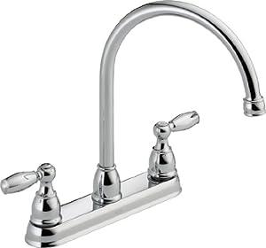 Delta Faucet LF Two Handle Kitchen Faucet Chrome