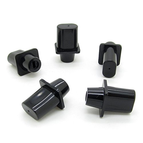 5pcs Black Top-Hat Knob Tip Tele Guitar Selector Switch Cap