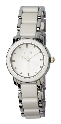 TiiM White Faux Ceramic Ladies and Girls Watch T228-SWT
