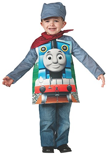 Rubies Thomas And Friends, Deluxe Thomas The Tank Engine And Engineer Costume, Child Small front-519932
