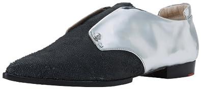 Joe's Jeans Women's Dakota Flat,Silver/Black,6.5 M Us