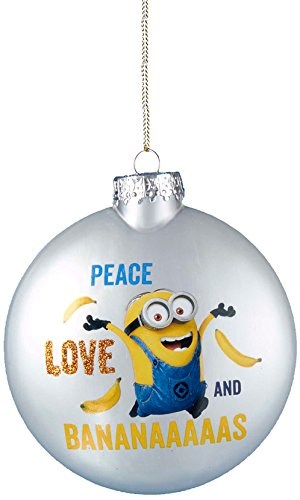 Kurt Adler Despicable Me Disc Ornament with Decal, 80mm - 1