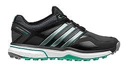 adidas Women\'s W Adipower S Boost Golf Shoe, Black/Dark Silver Metallic/Bright Green, 8.5 M US