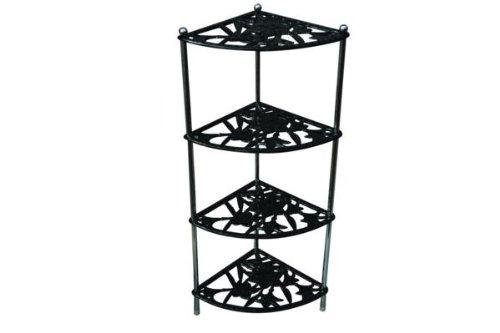 Apollo Cast Iron 4-Tier Panstand Corner, Black