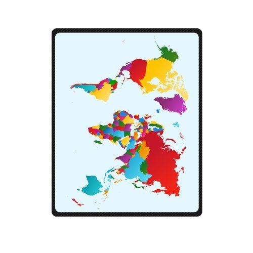 Personalized Fashion World Map, Colorful Countries Illustration Picture Fleece Blanket 40 X 50 front-1078852