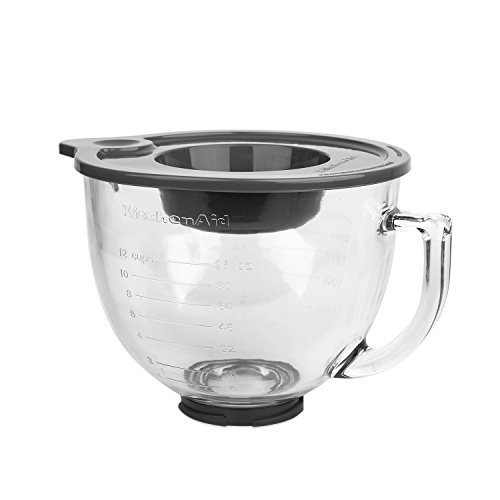 Tilt-Head Glass Bowl with Measurement Markings & Lid, For Kitchen 5-Qt (5qt Glass Bowl For Stand Mixer compare prices)