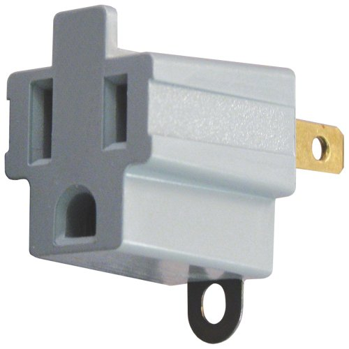 AXIS 45086 3-Prong to 2-Prong Electrical Adapter - 2 Pack