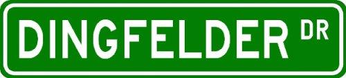 DINGFELDER Street Sign ~ Personalized Family Lastname Sign ~ Gameroom, Basement, Garage Sign Novelty** ALUMINUM - Buy DINGFELDER Street Sign ~ Personalized Family Lastname Sign ~ Gameroom, Basement, Garage Sign Novelty** ALUMINUM - Purchase DINGFELDER Street Sign ~ Personalized Family Lastname Sign ~ Gameroom, Basement, Garage Sign Novelty** ALUMINUM (The Lizton Sign Shop, Home & Garden,Categories,Patio Lawn & Garden,Outdoor Decor)