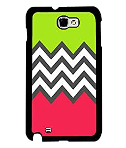 printtech Abstract Design zigzag Back Case Cover for Samsung Galaxy Note 2::Samsung Galaxy Note 2 N7100