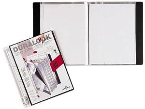 Durable 243401 Sichtbuch Duralook Plus, für A4, mit 40 Hüllen, Rückenbreite 25 mm, schwarz