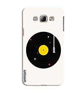 Omnam Old Disc Effect For Music Lover Printed Designer Back Cover Case For Samsung Galaxy A8