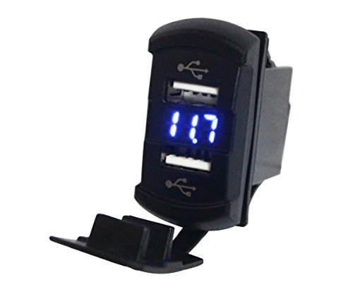 bandc-blue-duel-usb-ports-socketvoltmeter-for-arb-carling-switch-standard-size-cutout-by-bandc