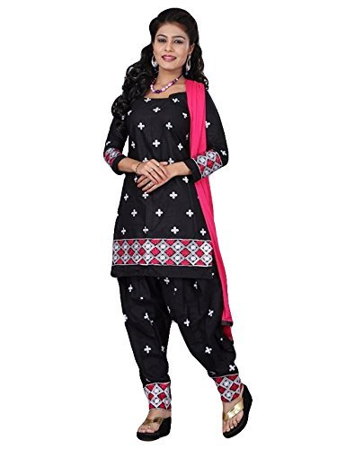 Muac new arrival Pink and black butty style designer traditional punjabi patiala suit