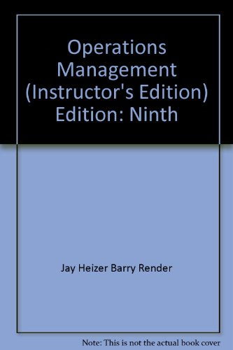 operation management 9th edition manual Operations management 10e william j stevenson solution manual 10th edition  read/download operations management, eighth edition,  madura-9th-edition-solution .
